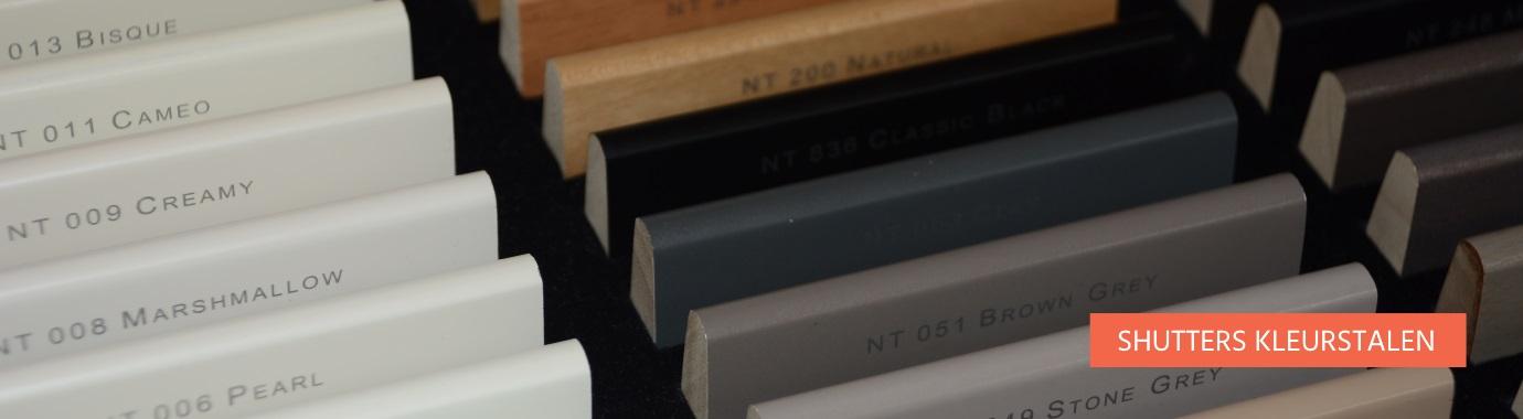 Bestel hier je JASNO Shutters kleurstalen